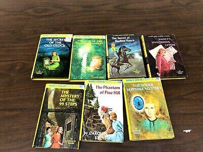 Lot of 10 RANDOM  NANCY DREW Mystery BOOKS hardcover