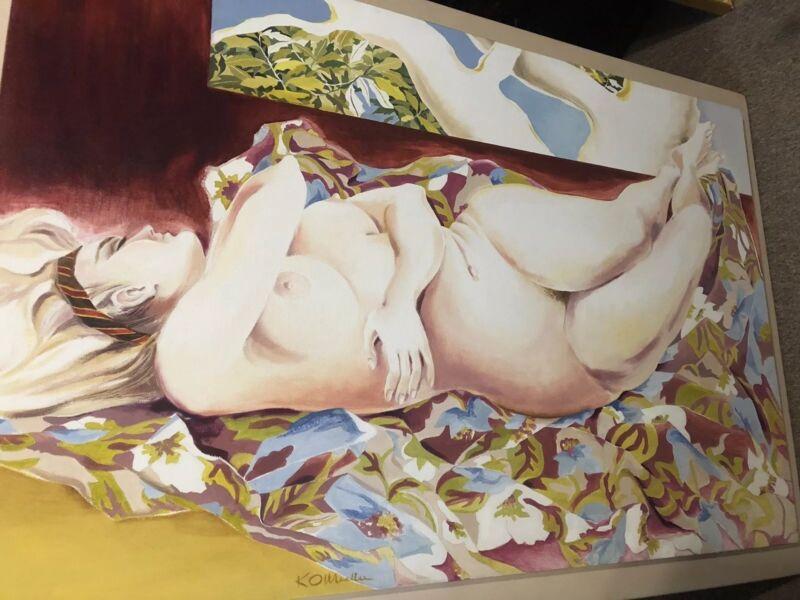 Kitty O'Meallie (New Orleans Louisiana B.1914 ), Newcomb artist, Oil,nude