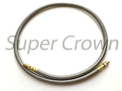 High Pressure Flexible Stainless Mesh Surround Lube Hose Bijur 4mm X 31.5 Showa