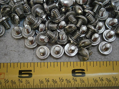 Machine Screws 6-32 X 316 Long Slotted Binding Head Stainless Lot Of 50 4890