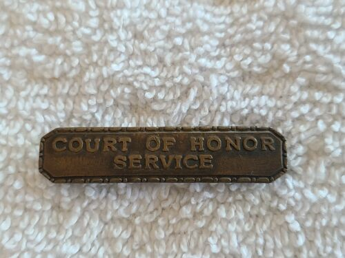Vintage Boy Scouts of America Court of Honor Service Badge Pin