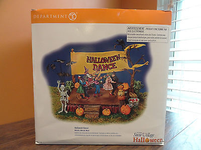 VIDEO Dept 56 55189 Halloween Dance Ball Monster Mash Song Animated Snow - Halloween Monster Ball