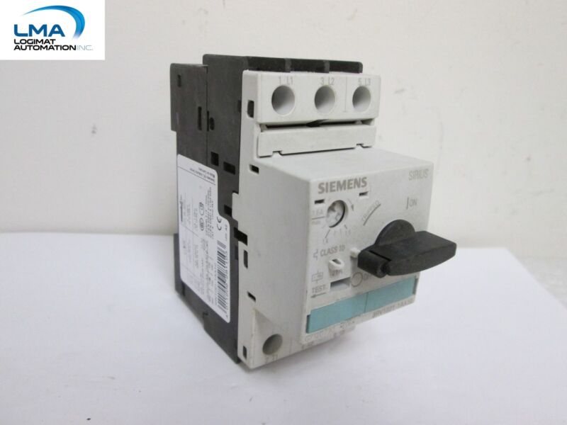 SIEMENS 3RV1021-1AA10 SIRIUS MANUAL MOTOR PROTECTOR CIRCUIT BREAKER 3-POLE