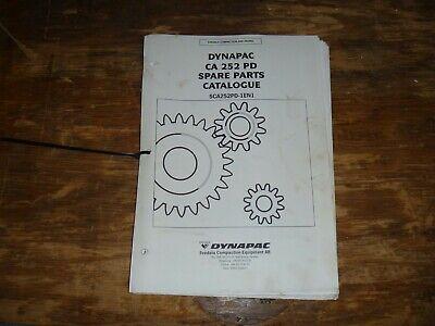 Dynapac Ca252pd Vibratory Smooth Drum Roller Parts Catalog Manual