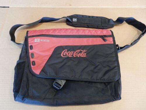 """Coca Cola OGIO Black & Red Saddlebag Messenger Crossbody Laptop Bag 13"""" - EUC"""