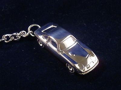 Schlüsselanhänger Opel GT altes Modell versilbert 5044