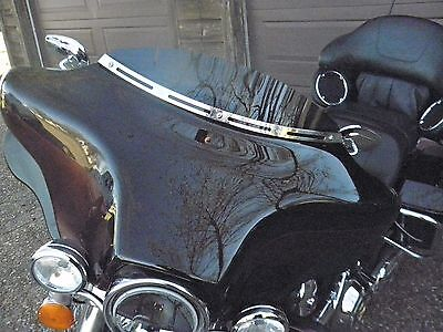 """Harley 4"""" Dark Tint Windshield Touring Electra Glide Ultra Classic Batwing 96-13"""