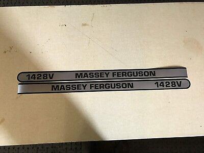 Massey Ferguson 1428v Hood Decals