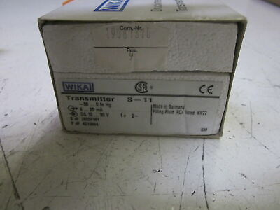 Wika S-11 Transmitter 10-30vdc New In Box