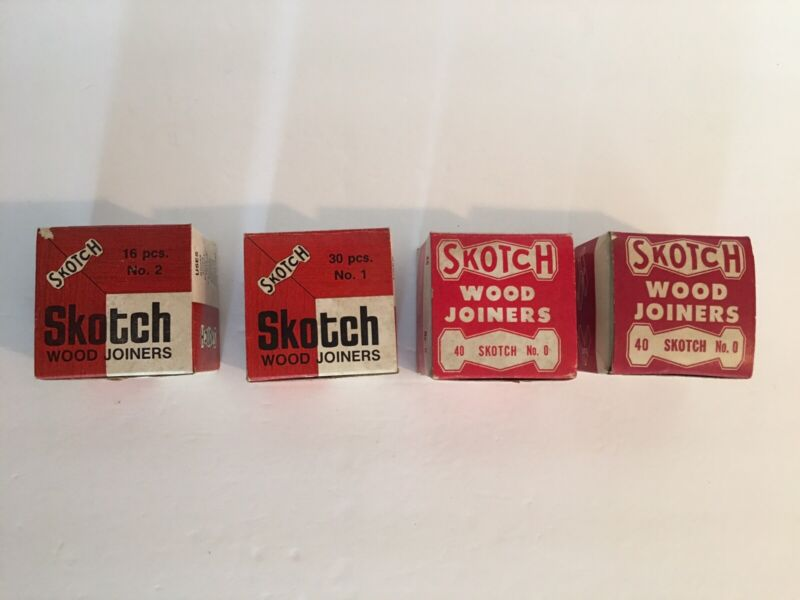 4 Boxes Vintage SKOTCH  Wood Joiners Made in Chicago U.S.A.