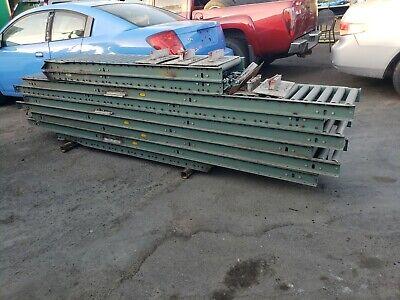 8 Pieces 10ft Gravity Roller Conveyer Steel