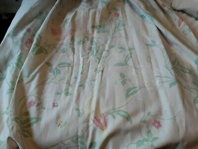 Handmade Curtains Drapes Laura Ashley Summer Palace Subtle Shades Cream Ground