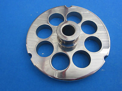 32 X 34 Meat Grinder Plate W Hub Stainless Fits Hobart Tor-rey Lem More