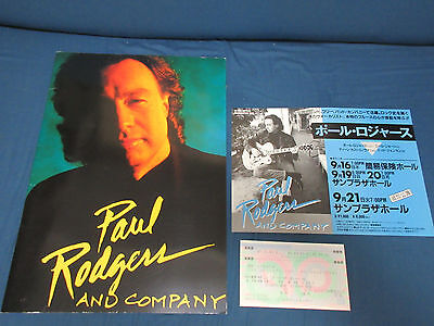 Paul Rodgers 1993 Japan Tour Book w Ticket Bad Company Free Neal Schon Journey