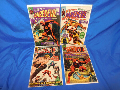 Daredevil #10 11 12 13 Lot 1965 Wally Wood Kazar Origin