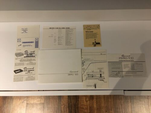Garrard Zero 100 Manual with template