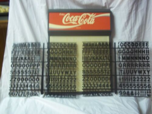 Coca-Cola Menu Board Sign w/2 sets of Coke Letters,Numbers & Symbols
