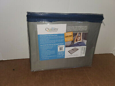 "Quility Premium Adult Removable Duvet Cover for Weighted Blanket 60"" x 80"" Grey"
