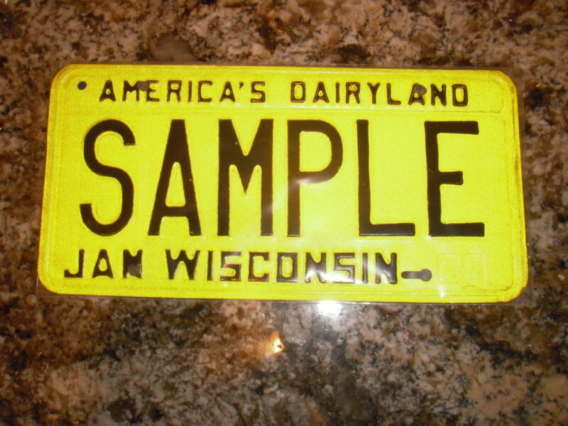 1980 WISCONSIN SAMPLE LICENSE PLATE A00 000