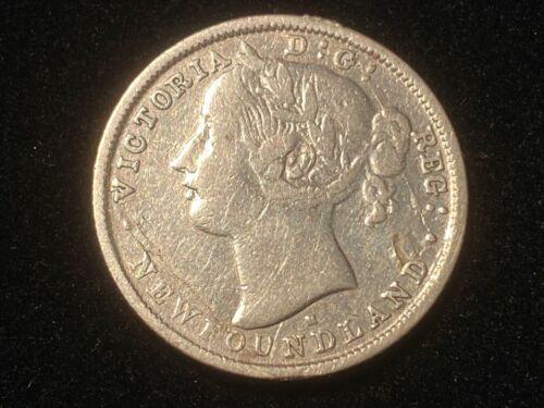 T2: Pre Confederation Newfoundland Canada 1876 H Silver 20 Cent