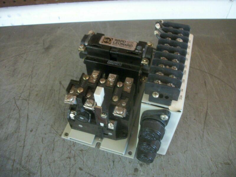 WARD LEONARD SIZE 0 MOTOR STARTER 8010B3951-14 120VCOIL 3PH 600V 5HP W/ASSEMBLY