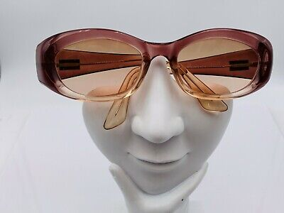 Vintage Gucci GG2432/S Purple Oval Sunglasses Italy FRAMES ONLY