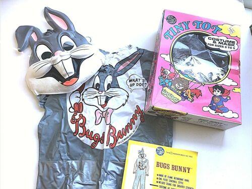 VTG Ben Cooper Halloween Costume Looney Tunes  BUGS BUNNY, Small 3-5
