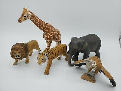 Schleich Lot Of 5 Wild Animal Assortment Jungle Realistic Animals Collectibles Assorted Wild Animals