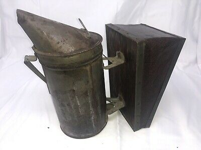 Vintage Antique Primitive Honey Bee Smoker Bellows Beehive Tool