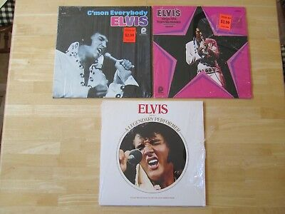 (3) Elvis Presley LP's: C'Mon Everybody, A Legendary Performer Volume One insert