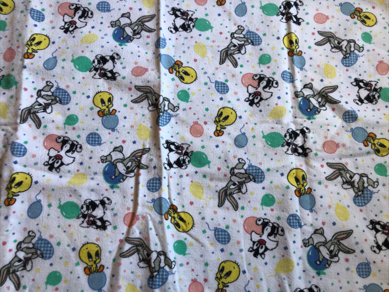 """Vintage Rare Baby Looney Tunes Baby Changing Towel 36""""X 27"""""""