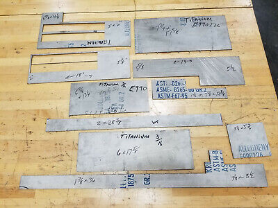 316 0.188 Grade 2 Titanium Sheet Plate 3x4 8x18 More Various Sizes Make Offer