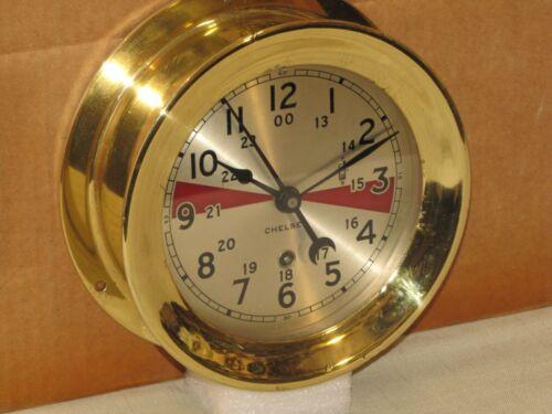 "CHELSEA VINTAGE SHIPS RADIO ROOM CLOCK~6"" DIAL~1949~RESTORED"