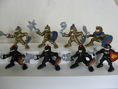 8 Fisher Price Great Adventures Castle Gold & Black Knight Action figures King ?