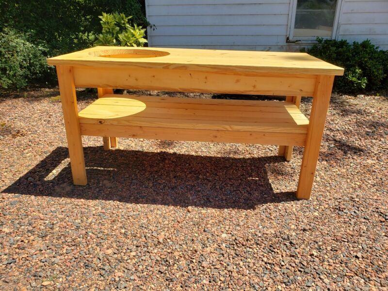 Large big green egg table