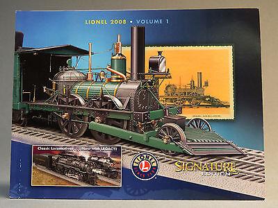 LIONEL 2008 VOLUME 1 SIGNATURE EDITION TRAIN CATALOG book Vol. One