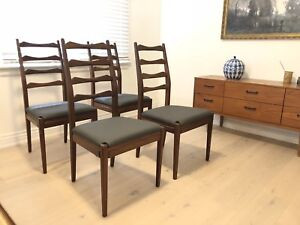 Vintage TEAK ladder back chairs $425 OBO