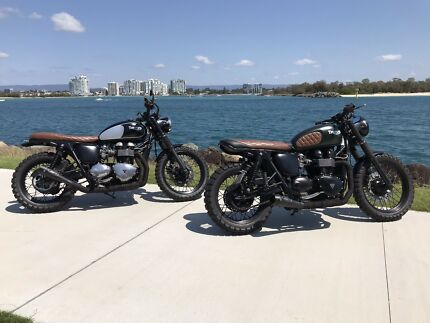 Triumph Bonneville Scrambler T100 Road Trail Custom Speedmaster Biggera Waters Gold Coast City Preview