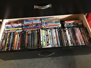 Tons of DVDs and some BluRays for sale.