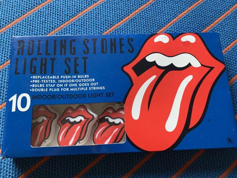 Rolling Stones Decorative Tattoo You Christmas Tree Porch Light Set 1980's NEW!