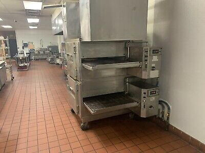 Lincoln Impinger Gas Double Deck Conveyor Pizza Oven 1000