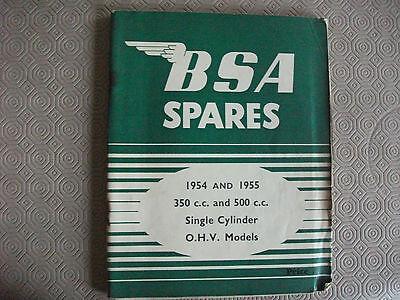 BSA B31/B34 Spares Catalogue,1954/55 Original, illustrated,350cc/500cc,124 pages