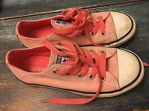 Girls Converse Sneakers. Coral! Sz. 13