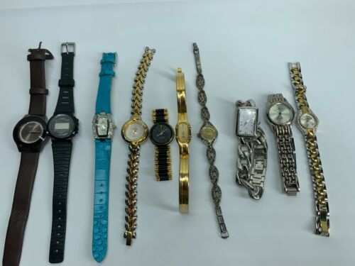Lot of 10 Womens Mechanical Small Face Watches ANNE KLEIN CITIZENS Repair Resell