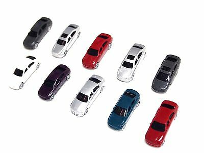 20x N Scale Gauge Painted Mini Cars for Model Train Layout Railway 1/150 Scenery for sale  Shipping to United States