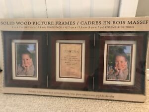 NEW - 3 solid wood picture frames
