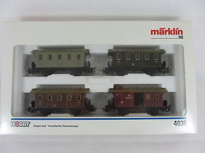 Märklin 4035 Personen-Wagenset Preussen 4 Wagen neuwertig und mit