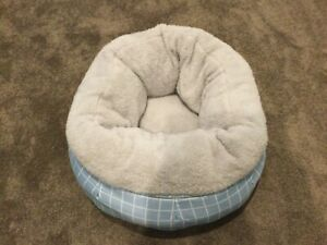 Dog Cat Pet Calming Bed Warm Soft Plush Round Nest Comfy Sleeping Kenn