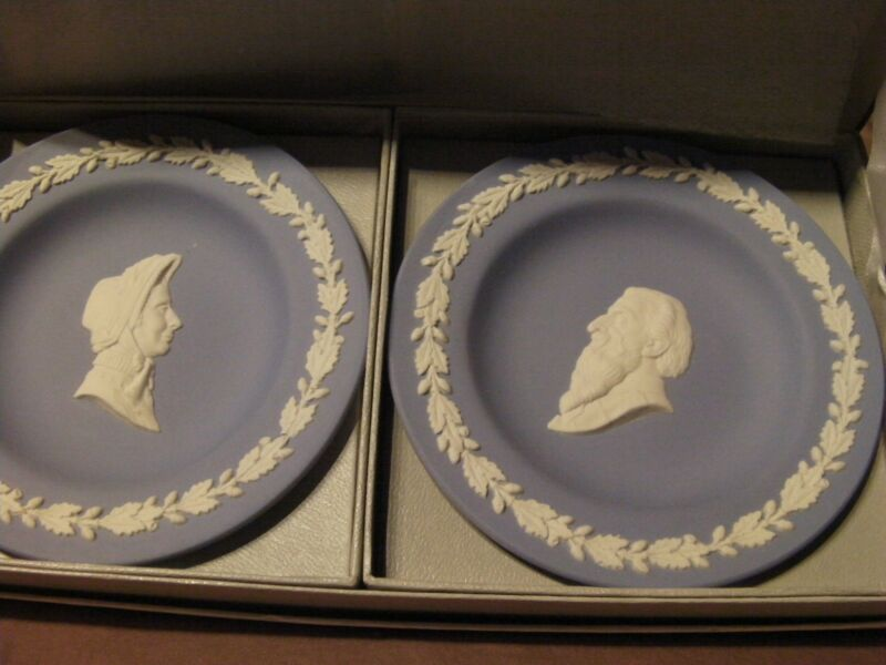 1970s WEDGWOOD GENERAL BOOTH WIFE Sweet Dishes SALVATION ARMY Jasperware WILLIAM