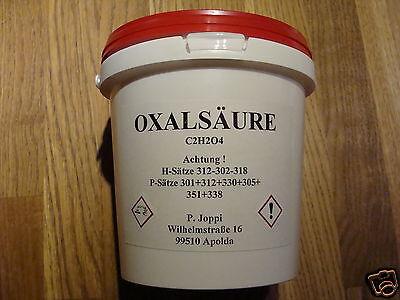 WOW 1kg OXALSÄURE Pulver Kleesalz Kleesäure Bleichmittel 99,62 %ig